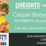 This Saturday, take the whole #family to enjoy @casparbabypants at @U_Heights! #UDistrict #Seattle #Free @KUOW http://t.co/e9RT56Tz1V