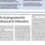 Avui al Diari de Tarragona Hoy en el Diari de Tarragona #capsademusica #aMt @maxsunyer #TGN #jazz #music #jazzclub http://t.co/3jOSrOAXtc