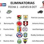 ¡Dale fav! Esta es la fecha 1 de las eliminatorias sudamericanas en hora ecuatoriana. http://t.co/9YbIuuIoMU