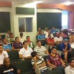 Reunión con fuerza técnica, socilizando fase de eliminatorias entre Manabi y Santo Domingo para juegos de menores http://t.co/d5miuIB9X2