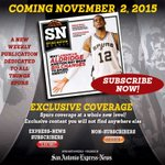 #SanAntonio @Spurs fans, the ultimate weekly #Spurs magazine drops Nov. 2: http://t.co/EMUcUfD9j7 #GoSpursGo http://t.co/O7o3bZHgId