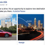 I like how @Toyota is tailoring location-specific message, but.. thats not Raleigh, NC. That would be Charlotte, NC. http://t.co/1OvG2Rktbh