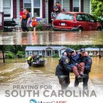 Our hearts and prayers are w/ South Carolina & the families affected by the flooding in their communities. #SCFlood http://t.co/Zms4IzsnFf