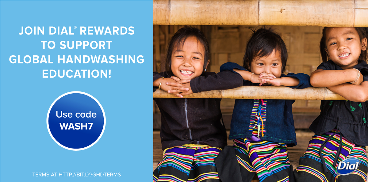 1. RT 2. Login/sign up at Dial Rewards (code WASH7). The @Dial brand will donate $1/per code: http://t.co/rsupnnCtUP http://t.co/9vLmmda1no