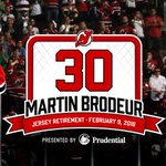 Rafter party! The #NJDevils will honor @MartinBrodeur on Feb. 9, 2016! Press release: http://t.co/V4fZEHanUB http://t.co/5TWjF9CW2F