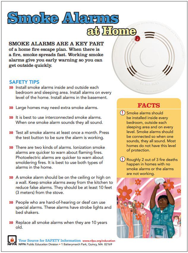 Download the @NFPA Smoke Alarm safety tip sheet & keep your family safe! http://t.co/6A41Zgr9Q0 #FirePreventionWeek http://t.co/PPPAX2jDJi