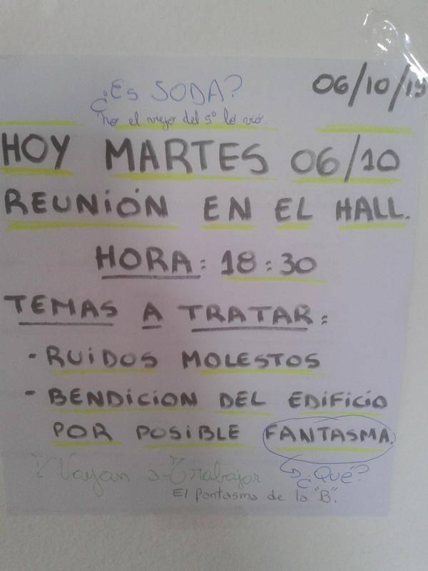 Esto sucede hoy en un edificio en Belgrano http://t.co/RHBq3ZTJ83