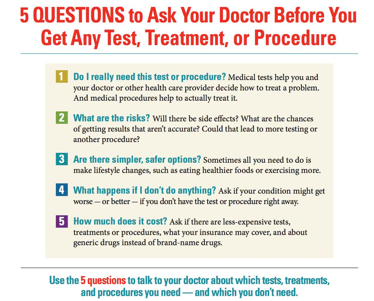 5 Questions to Ask Your Doctor before a test or procedure http://t.co/7Dc2NOa1m4 @taracrhealth #PCORI2015 http://t.co/vYjNMSWaZS