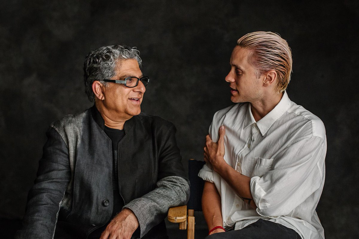 RT @HuffingtonPost: .@JaredLeto and @DeepakChopra sit down to talk about the future. It gets intense http://t.co/JmgQiOwSDL http://t.co/yDO…