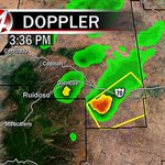 Severe Thunderstorm Warning [HAIL: quarter-size, GUST: 60 mph] for Lincoln Co until 4:15 PM. @KOB4 #nmwx http://t.co/5AXzqWeIns