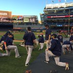 #Astros warmups underway on a beautiful night at Yankee Stadium. #WildCard #HustleTown http://t.co/K5e7Sxxymx