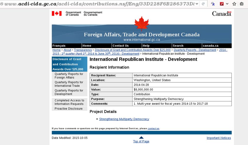 My govt gave $8M to these guys http://t.co/DQAoqxNN5v #elxn42 #cdnpoli http://t.co/9jIR3eMAF9