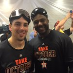 Its celebration time Inside the #Astros clubhouse... http://t.co/6N9ZlfwTP2