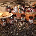 Jose Madrid Salsa featured in Longaberger baskets. JMS Salsa available at the Longaberger retail store. $UPZS #Pizza http://t.co/GsNOFjYCll