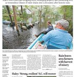 Front page of the #Charleston @postandcourier print edition for Wednesday. #SCFlood http://t.co/NrGx0WdBMz