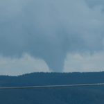Funnel cloud (at least!) spotted SE of Ruidoso around 1:00 PM. Courtesy: Michael Lovelace #nmwx http://t.co/BB1AReGyTv