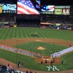 National Anthem at Yankee Stadium. #WildCard #Astros http://t.co/mZjV8hEuUR