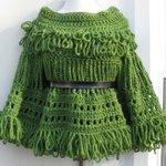CROCHET PONCHO, Green, retro, Fringe Poncho, Urban Chic, Boh… https://t.co/isWG9BWUAR #boho, #crochet #AvantGarde http://t.co/c4OSHIGJ1K