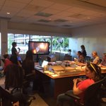 #TheFlash screening in the writers room. @CW_TheFlash @FLASHtvwriters http://t.co/yAnfvJpuEJ
