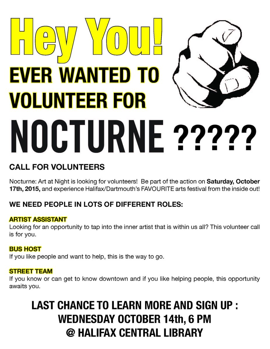 Hey Nocturne Pals! We still need volunteers for the big event!!! We are holding another info session! #nochfx15 http://t.co/R01enJEsre