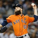 After 5 IP, Dallas Keuchel allows 1 H & has 6 K. Keuchel hasnt given up a run in 21 IP against Yankees this year. http://t.co/lVLtvbY0Jn