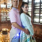 Behind the scenes with your new OTP! #Chester @glenpowell @msleamichele #ScreamQueens http://t.co/eg3xLuJh67
