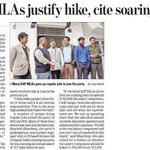 AAP MLAs justify hike, cite soaring prices,Many AAP MLAs gave up regular jobs to join the party. #DelhiGovernance http://t.co/IF3toPhUyL