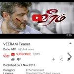 #Veeram Teaser Nov 7 2013 #Vedalam teaser Oct 8 2015 http://t.co/1hG7LUupb3