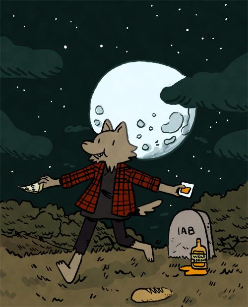 i got bullied by @TheTimeCowboy into doing a draw a werewolf wednesday http://t.co/OANpbFa9dD