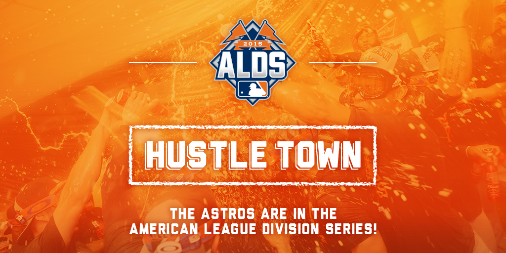 #Astros are in the AL Division Series! #HustleTown is going to KC for the #ALDS! #HTownPride http://t.co/vyQVHucrfI