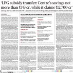 Modi Jumla Exposed again Pic 1 : LPG subsidy transfer savings = 143crs Pic 2 : Modi Govt claim = 12700crs http://t.co/ISsw3z1kmY