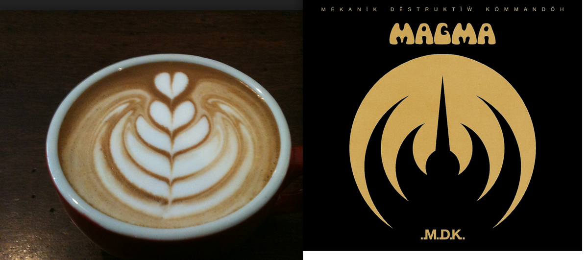 Must be possible to do coffee art in the shape of the Magma sign. Big opportunity for an entrepreneur out there. http://t.co/aMvX8Km99u