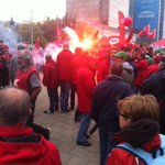 Premier pétard, feu dartifice, rhum-coca & cie! #manif7oct #Bruxelles @lalibrebe http://t.co/PixwNZyz0r