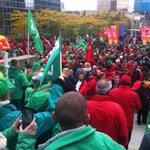 A la Gare du Nord, ils sont prêts! #manifestation #nationale #Bruxelles @lalibrebe http://t.co/4Hkdvri1fZ