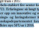 Ny utlysning av #SFU - Foreslår 45 millioner til videreføring av ordningen i #statsbudsjettet for 2016 #utdanning http://t.co/Wtl7PXm7LK