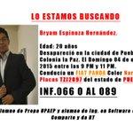 Lo estamos buscando: #Puebla http://t.co/Ndh1c2HZHQ