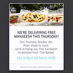 So, #Amman get ready! #UberManaeesh is tomorrow and FREE! Lets order from 10am-1pm! ❤️ @Uber_Amman #UberAMM http://t.co/I1rYu3OAhX