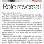 Open letter to mom, tribune today ! Gudmorn ing!!!
