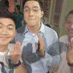 "I.G UPDATE! ALDEN WITH MY GOOD FRIEND MATEO AND HIS FRIEND... ""PABEBEWAVEMONS"" #ALDUBTogetherAgain http://t.co/F2vo80EkaV"
