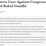 ED Registers Case Against Congress Leaders Sonia and Rahul Kejri 370 page proof Shiela Dixit? http://t.co/V4DWoJB299 http://t.co/bJ8BVg0FAz
