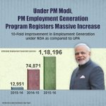 PM Employment Generation Program Registers Massive Increase under PM Modi. http://t.co/MkuzxOXYZx