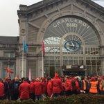 #manif7oct Gare de Charleroi http://t.co/n620HatjLR