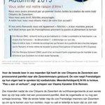 Provocerende oproep tot Fr-taligen om in sportclubs enkel Frans te spreken #Zaventem @de_NVA http://t.co/xMKbbGrnMB http://t.co/eilOnvDo1l
