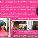 ~Kiki The Diva Hair Weava! The Los Angeles Hair Stylist~ Women over there dont miss it! https://t.co/8llXjaInIK http://t.co/GqXP8i87La