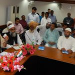 Today met with religious leaders, others from Muslim community & discussed various issues concerned to Minorities. http://t.co/0p7HkLQVDe