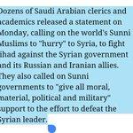 #Saudi Clerics Call For Jihad Against Assad, Russia and Iran in Syria http://t.co/dLauc8w1Dj #Iran #Syria:#Russia http://t.co/RtIo9SwcFN