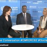 WHO representatives Elizabeth Hoff, Syria, & Dr Ahmad Shadoul, Yemen, discuss public health emergencies. #EMROrc62 http://t.co/hgO13kZk9K