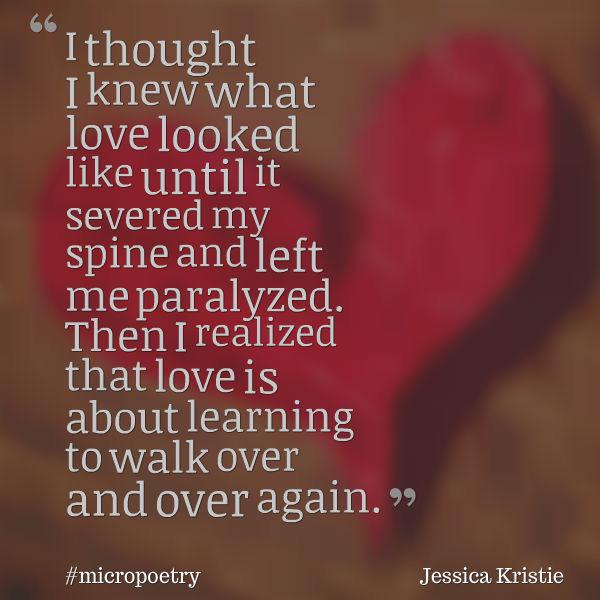 What love looks like.  #micropoetry #FightSong #poetry http://t.co/pEzslJ5Ukl