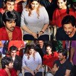 SRK Paid A Visit To Ram Charan's #BruceLee Sets.  http://t.co/QdBj7WcP52