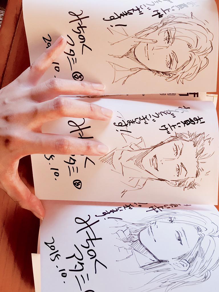 腐男子高校生活のサイン本を描かせて頂きました!こんな感じで3種類です!お立ち寄りの際はよろしくお願いしますー!◡̈⃝♡詳